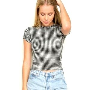 NWT | Brandy Melville | houndstooth tee | Small
